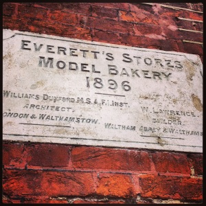 Everetts Bakery Plaque