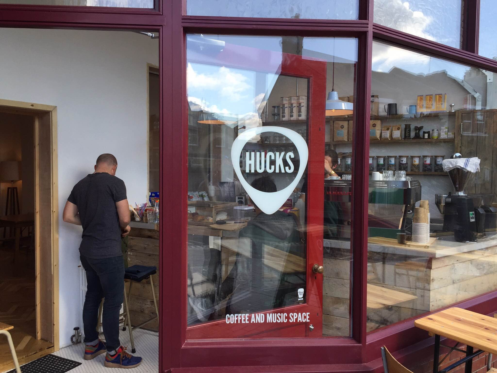hucks cafe walthamstowdiary - Glass Front Cafe 2015