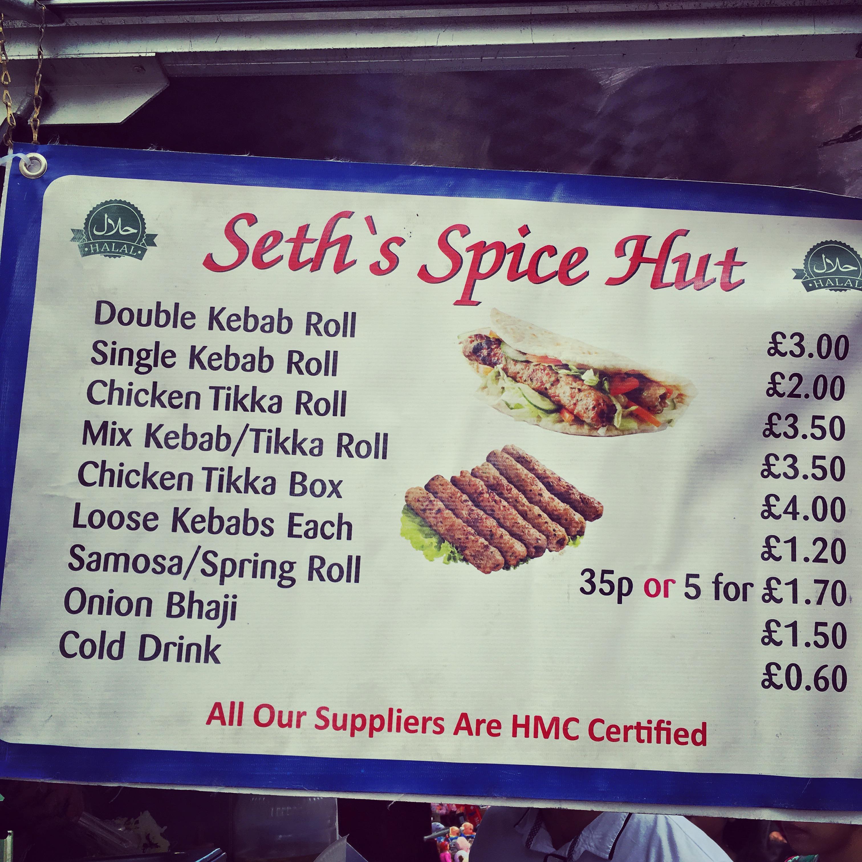 Seths Spice Hut Walthamstowdiary
